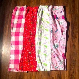 Pajama pants bundle flannel pink kitty Care Bears